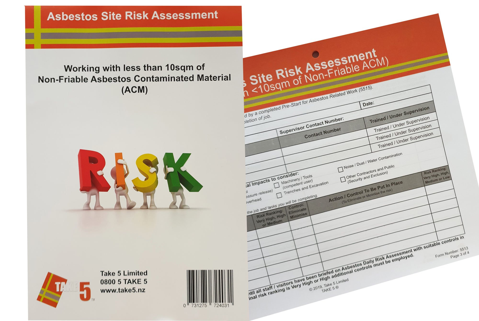 Asbestos Risk Assessment Pad