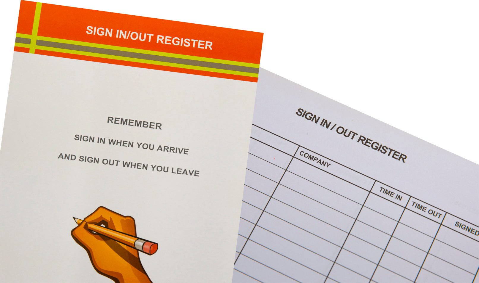 Sign In/Out Register - Pad