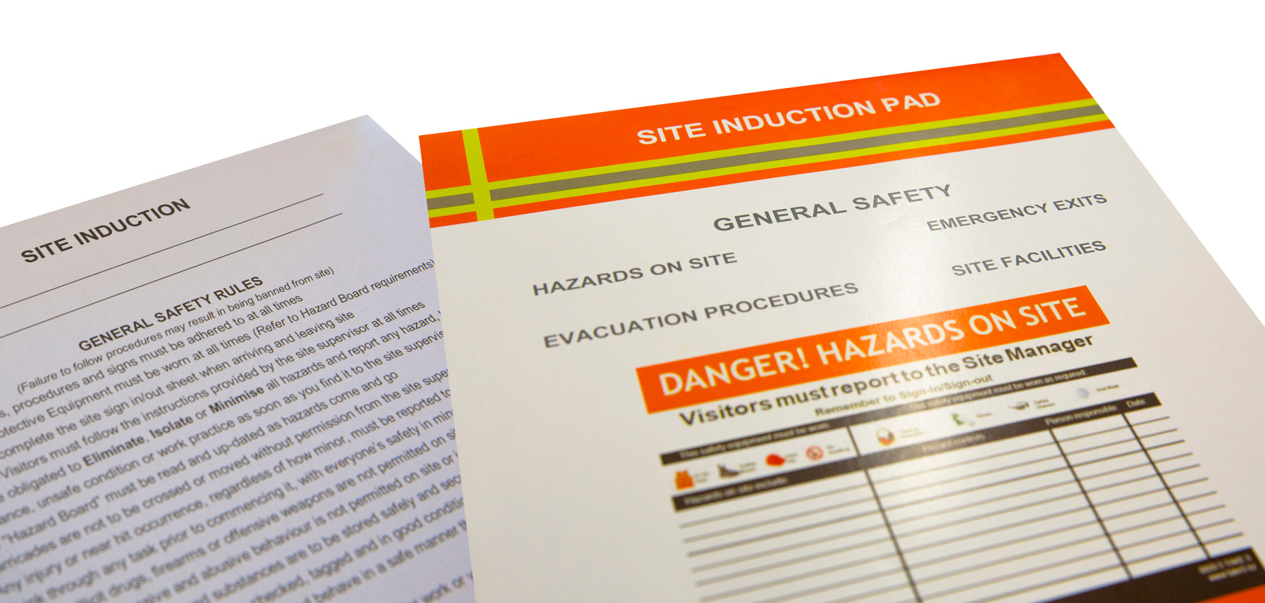 Site Induction Pad