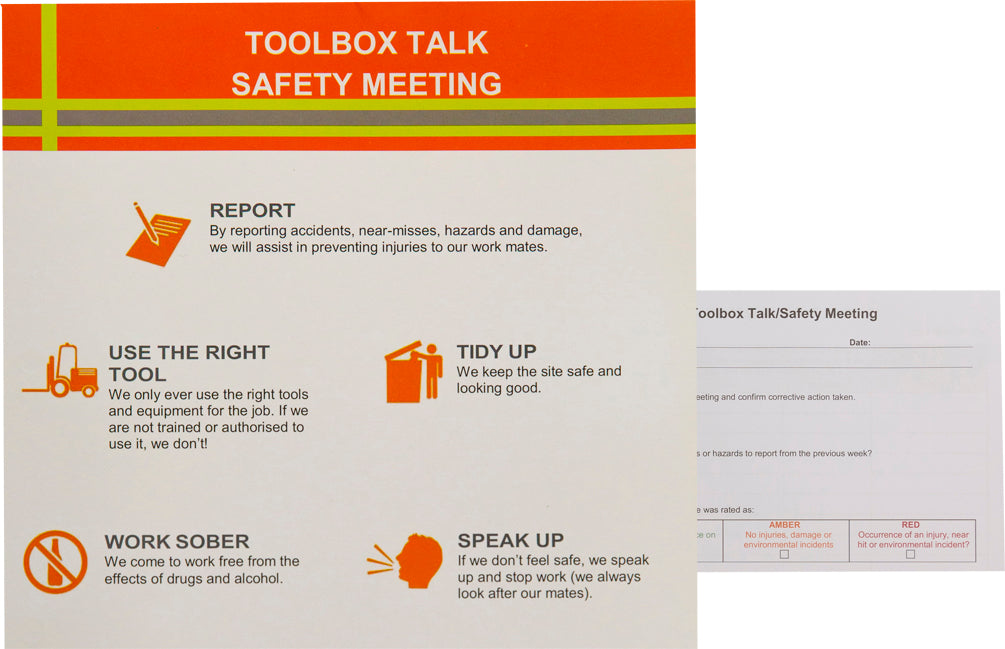 Safety Meeting/Toolbox Talk Pad