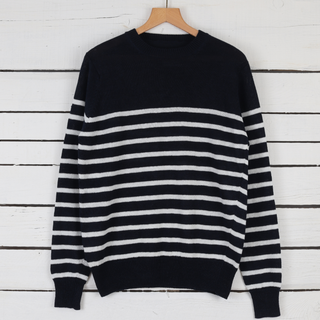 Men's Bretton Stripe Linen Sweater