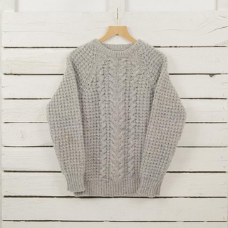 Women's Cable Knit Donegal Wool Sweater