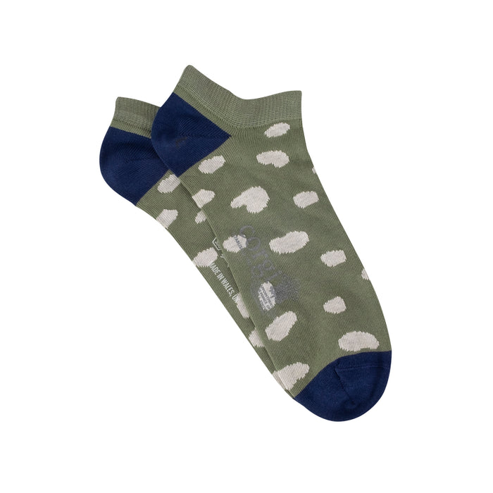 Women's Low Cut Dalmatian Spot Cotton Socks