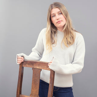 Women's Textured Cashmere Sweater