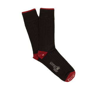 Men's Luxury Contrast Tip, Heel & Toe Cashmere & Silk Socks