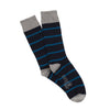 Men's Luxury Rib Stripe Cashmere Socks
