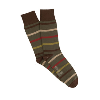 Men's Luxury Stripe Cotton & Cashmere Socks