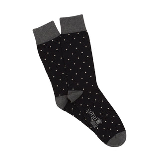 Men's Pin Dot Luxury Cotton & Cashmere Socks