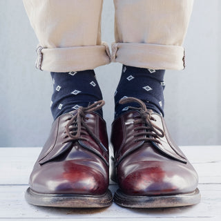 Men's Diamond Cotton & Silk Socks