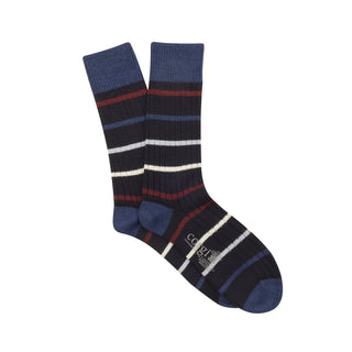 Men's 'Archie' Stripe Wool & Cotton Socks