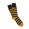 Men's Rib Two Colour Stripe Pure Cotton Socks