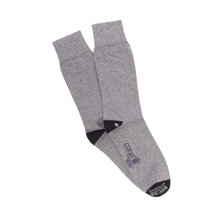 Men's Contrast Heel & Toe Cotton Socks