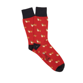 Men's Corgi Dog Cotton Socks