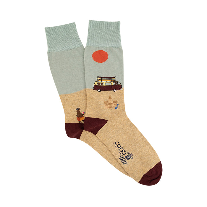 Men's Campervan Scene Cotton Socks