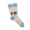 Men's Angry Bear with Fish Cotton Socks