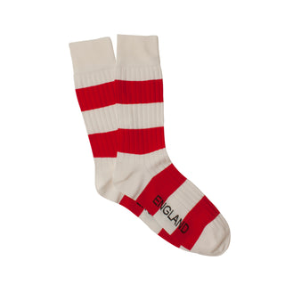 Men's England Rugby Stripe Cotton Socks