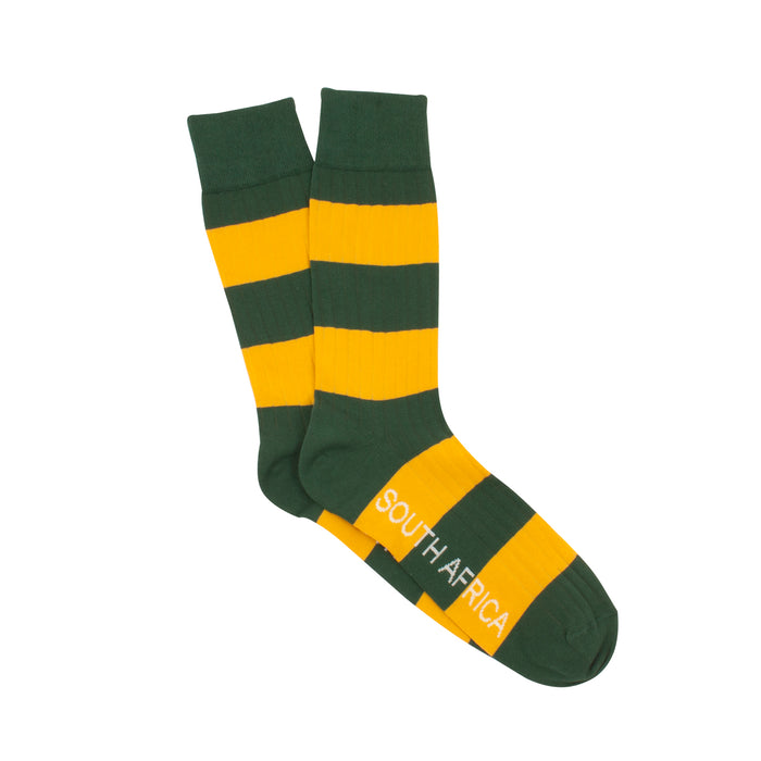 Men's South African Rugby Stripe Cotton Socks