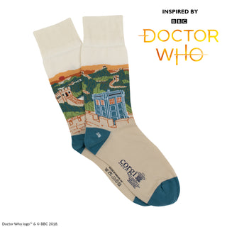 Women's Doctor Who Great Wall of China Scene Cotton Socks