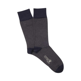 Men's Micro Stripe Mercerised Cotton Socks