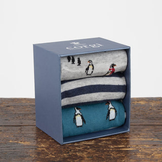 Men's Arctic Penguins Cotton Gift Box