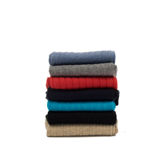 Men's Assorted Seven Pack of Rib Cotton Socks