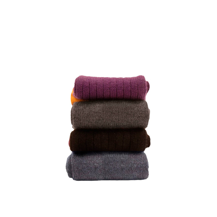 Men's Two Pack of Assorted Luxury Cashmere & Cotton Socks