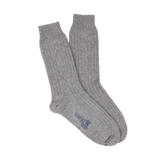 Women's Luxury Hand Knitted Cable Pure Cashmere Socks