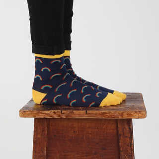 Women's Welsh Weatherman x Corgi Rainbow Socks