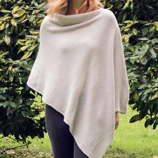 Women's Pure Cashmere Textured Poncho