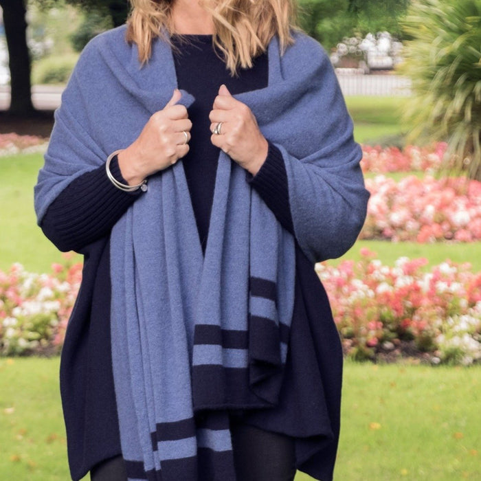 Women's Striped Cashmere Wrap