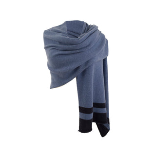 Women's Pure Cashmere Striped Wrap