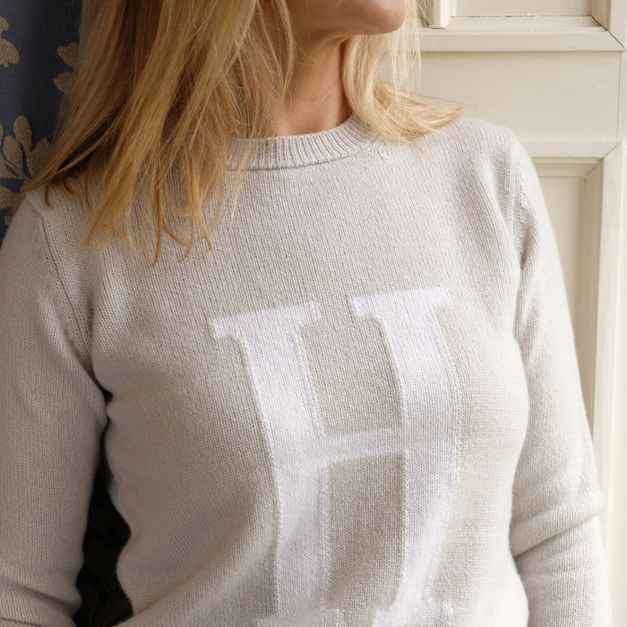 Women's Personalised Letter Wool Sweater