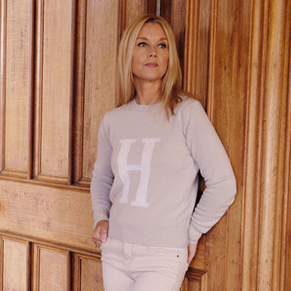 Women's Personalised Letter Cashmere Jumper
