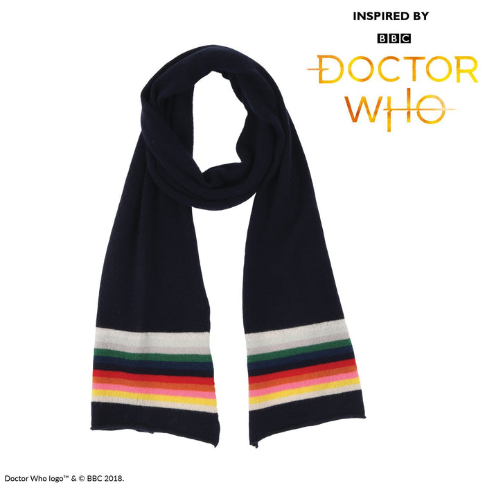 Doctor Who Cashmere & Cotton Striped Scarf