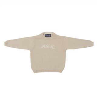Toddler's Personalised Pure Cashmere Jumper