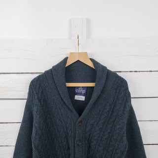 Men's Cable Wool Cardigan