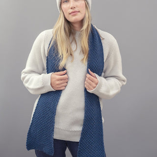 Women's Textured Knit Cashmere Scarf