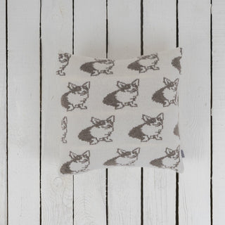 Corgi Dog Patterned Wool Cushion