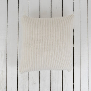 Large Chunky Ribbed Cashmere Cushion