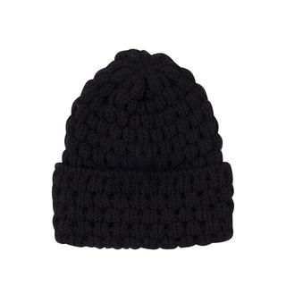Women's Bubble Stitch Wool Beanie