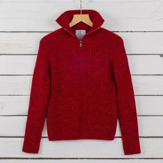 Women's Ribbed Zip Cashmere Sweater