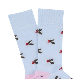 Women's Christmas Holly Cotton Socks