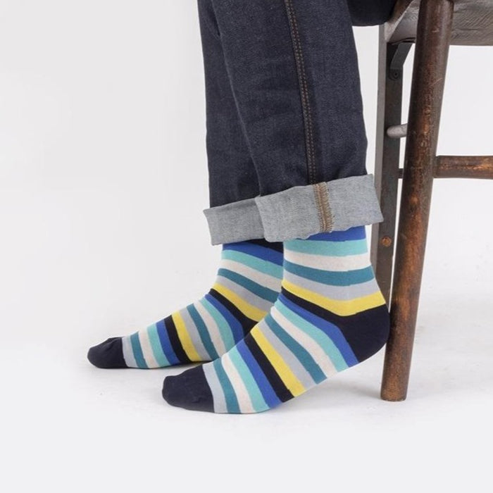 Men's Limited Edition 7 Colour Stripe Socks