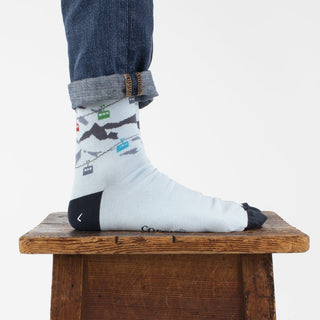 Men's Skiing Cable Car Cotton Socks
