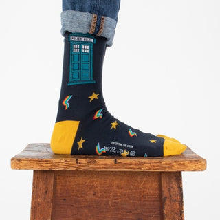 Men's Doctor Who Tardis Cotton Socks