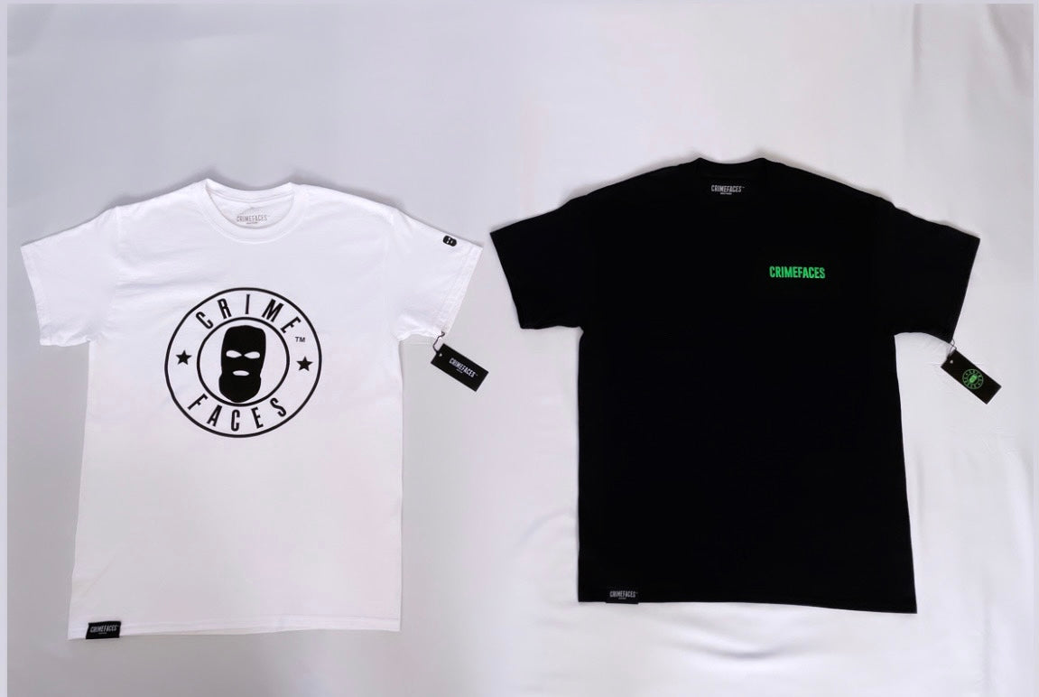 CRIMEFACES 2 PIECE COMBO T-SHIRT PACK