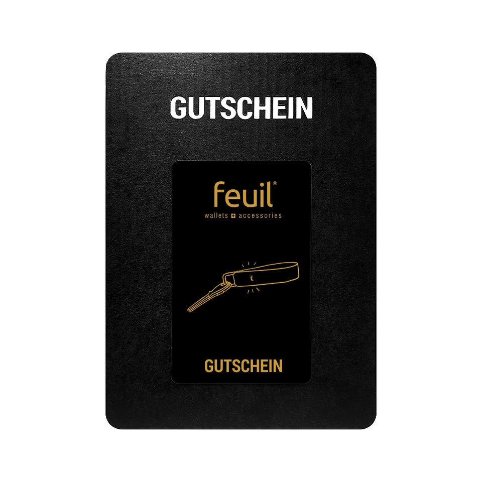 Gift card voucher Schluesselanhaenger CLE feuil wallets accessories