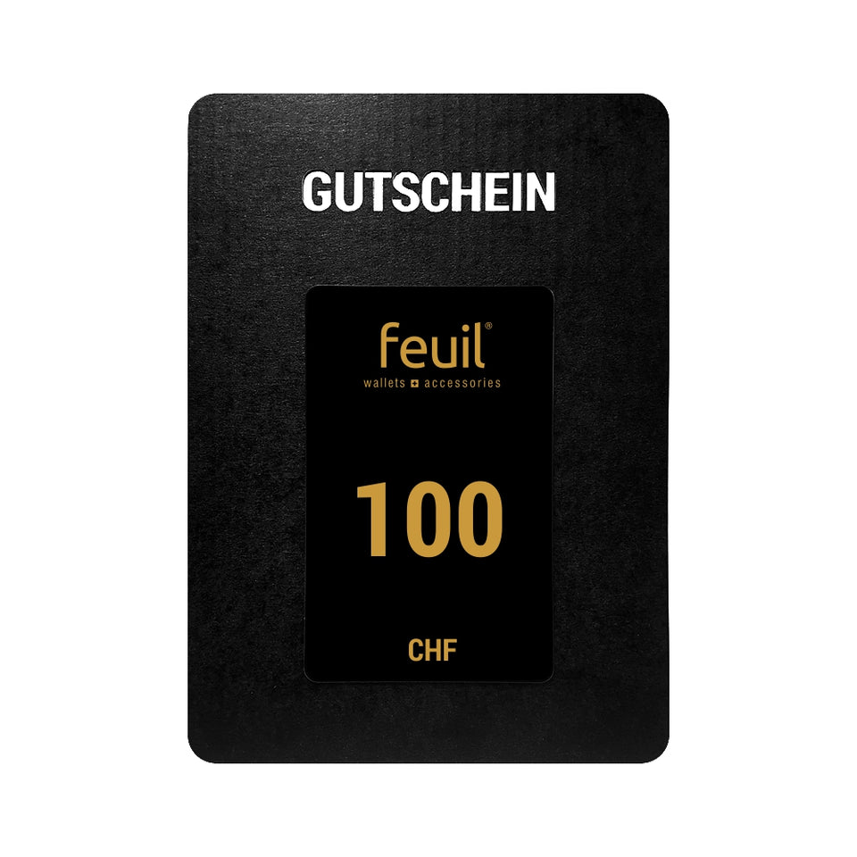 Gift card Voucher Value voucher 100CHF feuil wallets accessories
