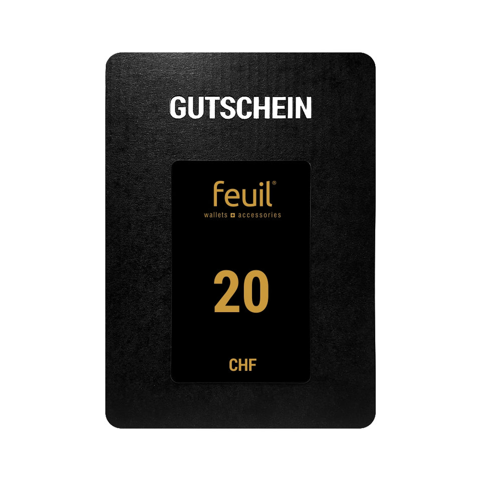 Gift card voucher voucher 20CHF feuil wallets accessories