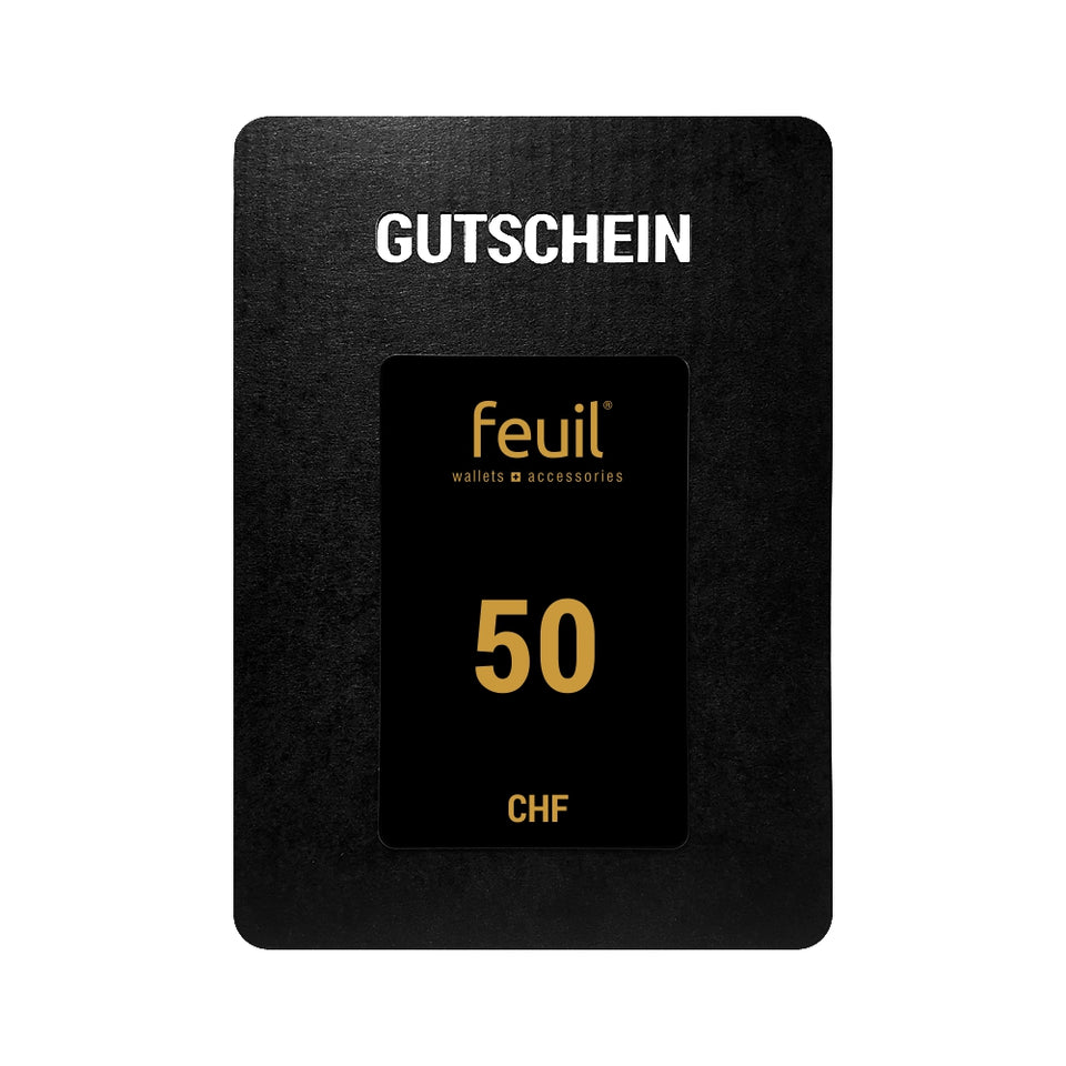 Gift card Voucher Value voucher 50CHF feuil wallets accessories